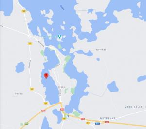 Dirbtinės salos įrengimo vieta Totoriškių ežere