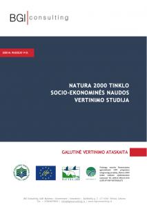 """""""Natura 2000"""" tinklo socio-ekonominės naudos vertinimo studija"""